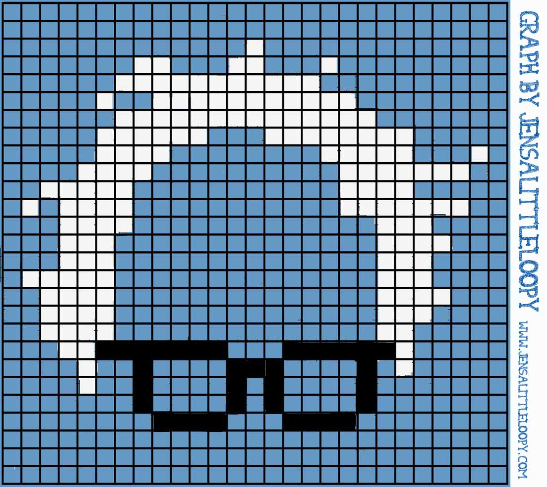 Feel the Bern with this FREE crochet (or knitting or crafting) 8 bit chart!