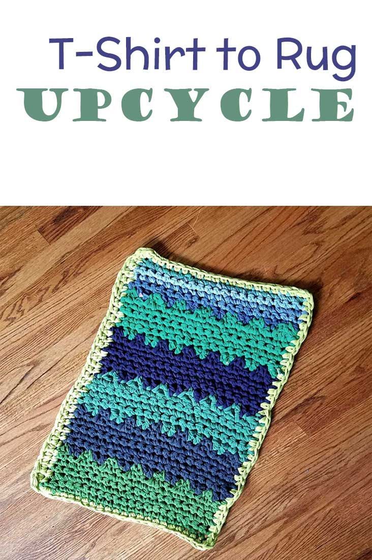 Want to make a crochet t-shirt yarn rug? Here's an easy tutorial for you!