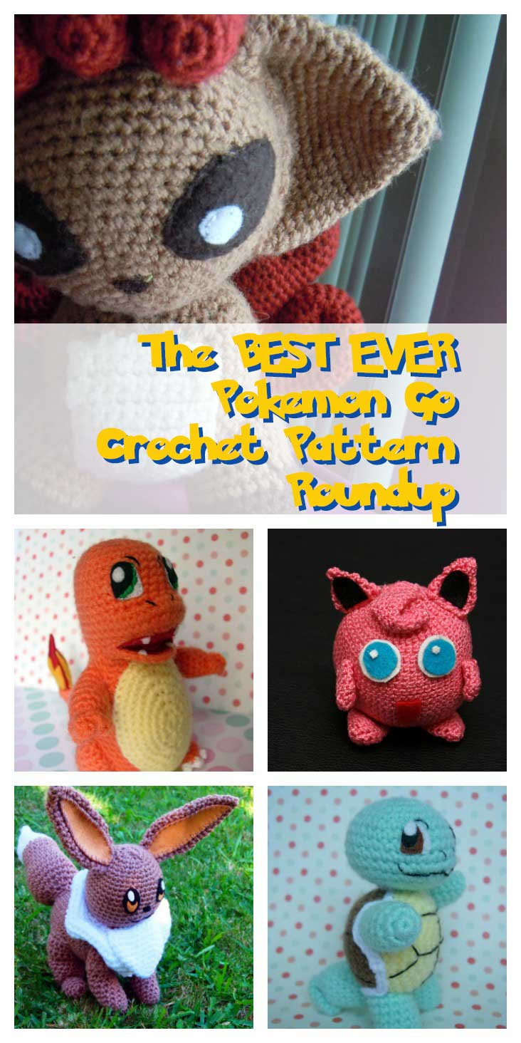 The BEST EVER Pokemon Go Crochet Amigurumi Pattern List | Jen\'s a ...