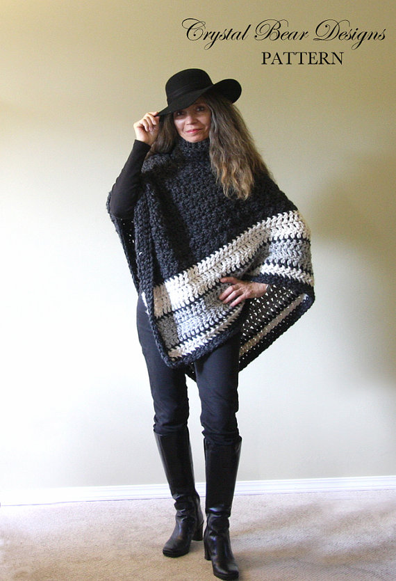 chunky-crochet-poncho