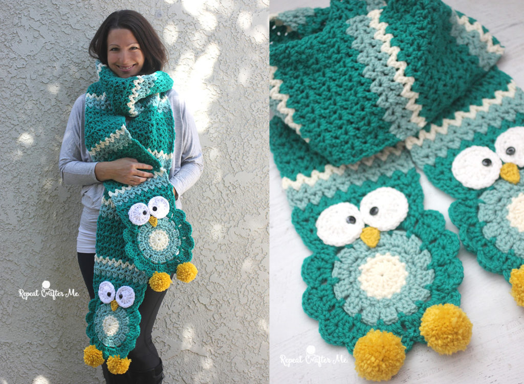 Owl Super Scarf Pattern