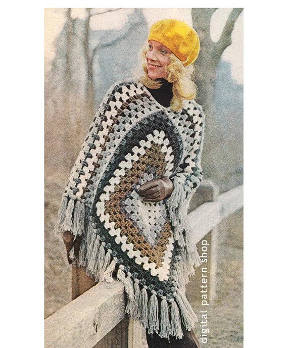 vintage-crochet-poncho-pattern