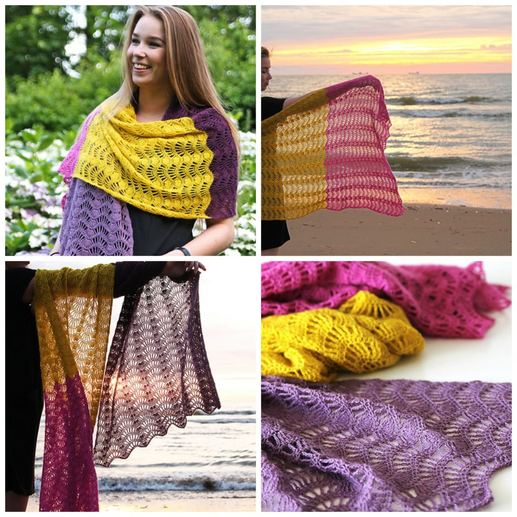 Feather and Fan Super Scarf Pattern