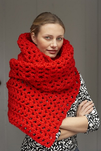 Glam Statement Super Scarf Pattern