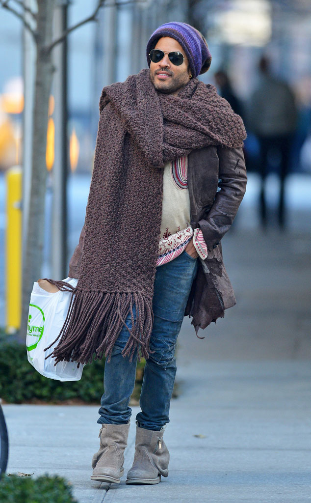 Lenny wearing a super scarf