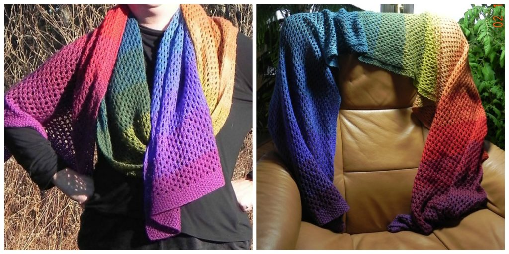 Rainbow Wrap Super Scarf Pattern