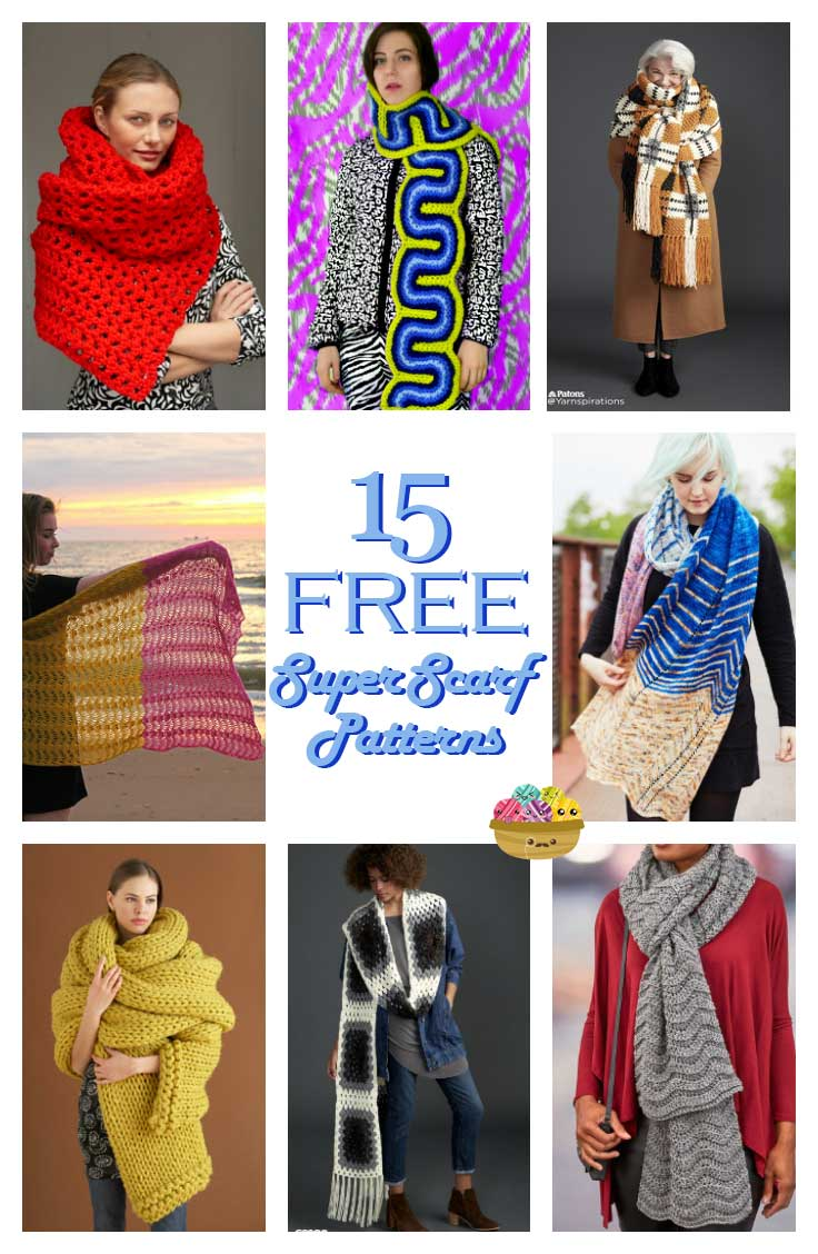 15 Unique and Free Super Scarf Patterns