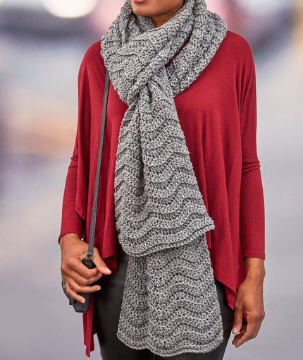 Wavy Ridge Super Scarf Pattern