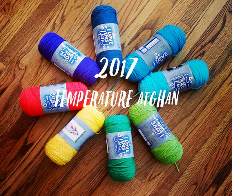My 2017 Temperature Blanket and Crochet Afghans