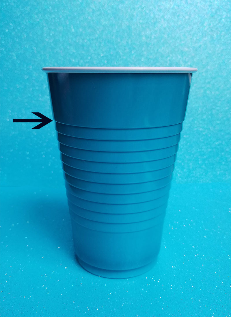 Use a Solo cup for inside crochet Unicorn Frappuccino!