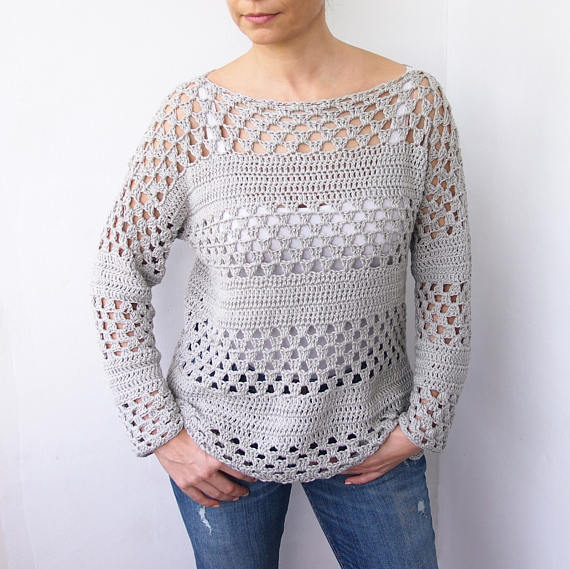 Sugarwheel Pattern Ideas - Granny Stripes Sweater