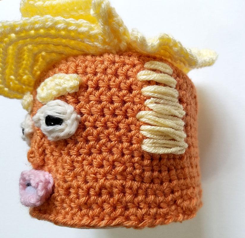 Trump Toilet Paper Cover Crochet Pattern Jens A Little Loopy