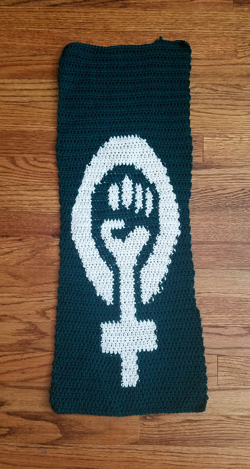 black feminist power crochet and knitting chart