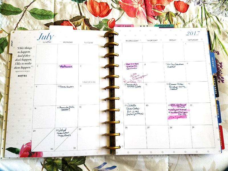 Big Happy Planner Monthly Spread