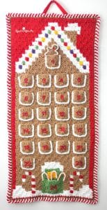 crochet gingerbread house advent calendar