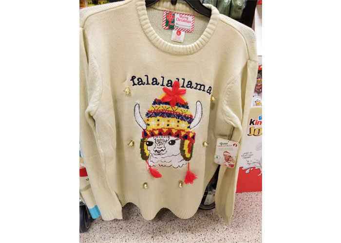 falalallama ugly christmas sweater