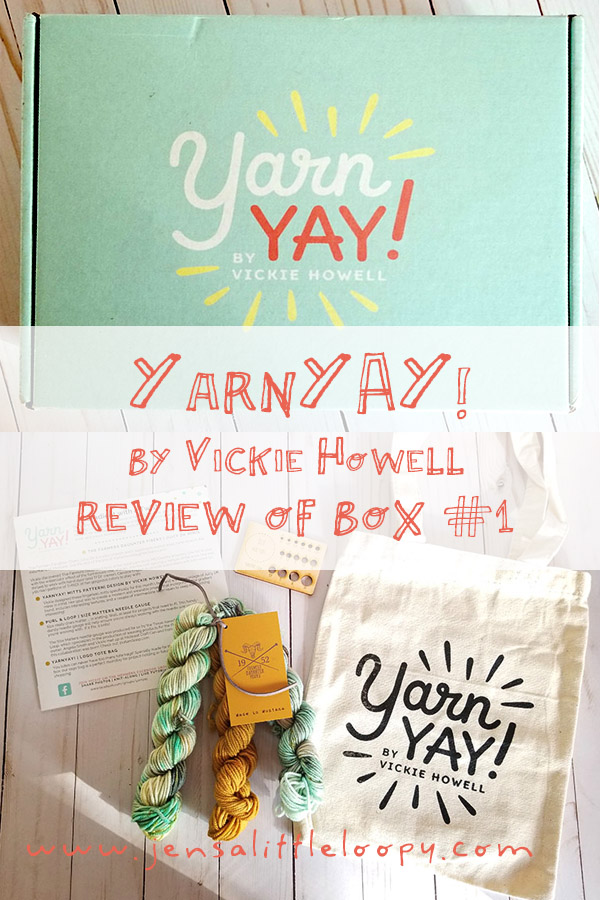 Have you heard about YarnYAY! by Vickie Howell? This is *the* subscription box you need in your life! Here's a review of the first month's box. You don't want to miss the next one! #knitting #crochet #subscriptionbox #yarn