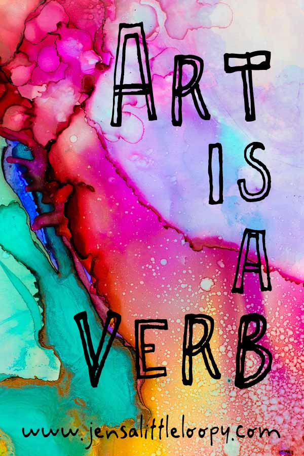 Art is a verb. If you want to be an artist, all you have to do is make some art. #art #artjournal #inspiration #motivation #creativeinspiration