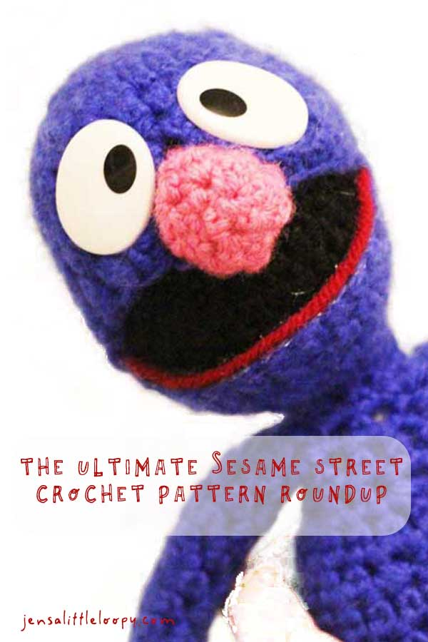 Helllloooooo everybodeeeeeee! It is I, your lovable furry friend Grover with a sweeeeet roundup of of Sesame Street crochet patterns for you! #crochetpatterns #sesamestreet